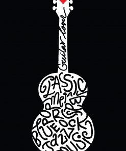 Acoustic guitar drawing style